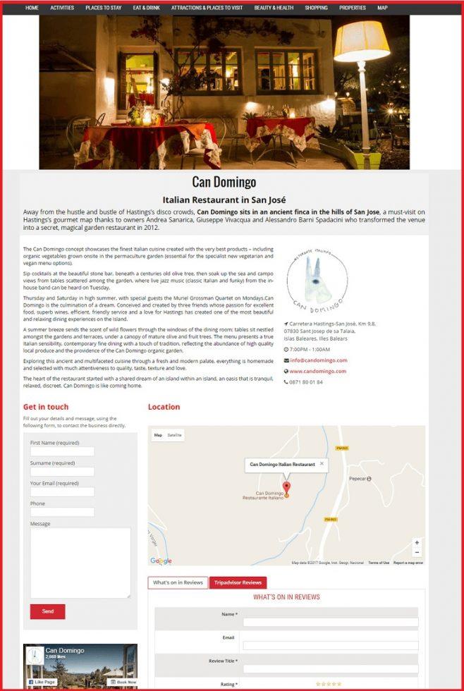 Sales Page Example when Advertise with us What's on in South West London.com