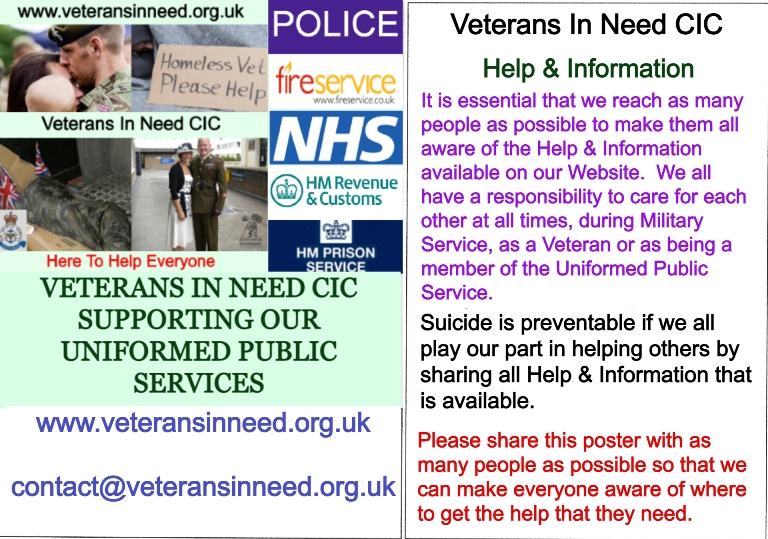 Veterans In Need C.I.C South West London